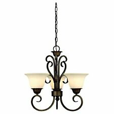Westinghouse 6220800 Regal Springs 3-Light Interior Pendant, Ebony Gold Finish
