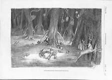 Alp Arslan Beg Seljuk Empire Sultan Sleeping in the Forest ANTIQUE PRINT 1900