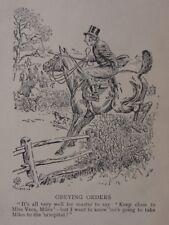 La chasse, Fox & chiens obéissant commandes antique punch Cartoon