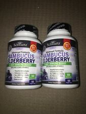 2-pack Of Bio Schwartz Sambucus Elderberry 3-Way Immune Boost 60 Veggie Caps