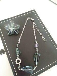Antica Murrina Glass Bead Statement Necklace & Matching Pin Brooch