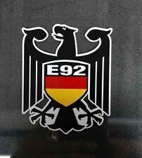 E92 German Flag Eagle decal Fits BMW E92 Germany window sticker YOU GET 2