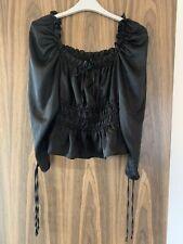 Topshop Silk Puff Sleeve Top Size 12