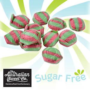 Watermelon Sugarfree Bulk Lollies Rock Candy - Sugar free