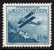 Liechtenstein 35Rp Air Mail Stamp c1930 Mounted Mint (tiny gum tone) (7821)