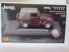 Maisto Jeep Wrangler Sahara 1:18 Diecast Model Car with Infrared-Controlls
