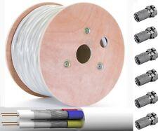 +10 F-STECKER 10m Quattro Antennenkabel 4-Fach Quad Koaxial Kabel 4in1 SAT LNB