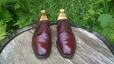 CHURCH'S BENCH MADE CONKER BROWN LEATHER DERBY SHOES, LOVELY PATINA. UK SIZE 7 F