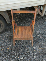 Vintage solid wood folding chair LB090220M