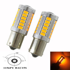 2x 1156 BAU15S PY21W 7507 33SMD LED Bulbs Car Turn Signal Light Amber Lighting