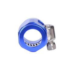 1x Universal Blue AN8 Magna Clamp Hose Finisher Clamp Upgradability Durable