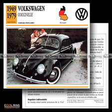 #005.18 VOLKSWAGEN VW COCCINELLE KÄFER BEETLE (1949-1979) - Fiche Auto Car card