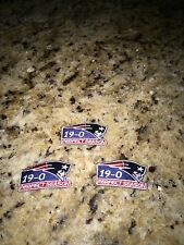 (3) LOT NEW ENGLAND PATRIOTS PERFECT SEASON 19-0 iron on patch 2 inch