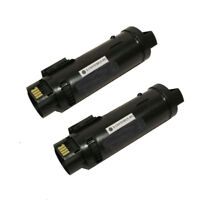 2PK Black Toner Compatible for Xerox WorkCentre 6515, Phaser 6510 - High Yield