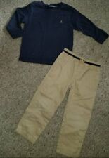 GAP Navy Long Sleeved Top GYMBOREE Tan Pants Boys Size 4T