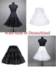 Petticoat 50er 60er Rockabilly Tüllrock Dirndlrock Unterrock Schwarz Weiß NEU