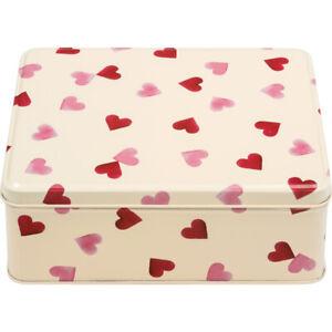 Emma Bridgewater Pink Hearts Deep Rectangular Metal Storage Tin
