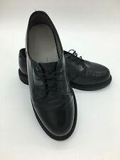 Women's Capps Black Leather Welt Uniform Rita Oxford Shoes Vibram Sole Size 8W
