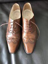 Herring Shoes, Beautiful Handmade Chestnut Leather Brogues Pointy Toe EU 40.5  7