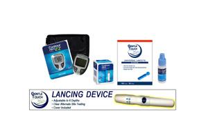 Bayer Contour Next EZ Glucose Bundle 50 strips lancet,Control Sol, Lancet Device