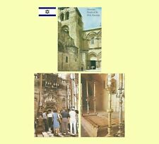 3 - 1970s Jerusalem Israel - The Church of the Holy Sepulchre Postcards - NM/MT