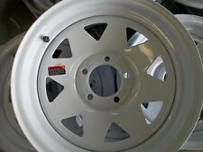 FOUR New 15 inch 5 on 4 1/2 Bolt Pattern  Trailer Wheels