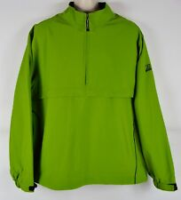 NWT Cutter & Buck Men's L Windtec DDQ Golf Invitational Zip Pullover, Green