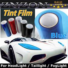 "Sky Blue 12""X48"" Headlight Fog Light Taillight Tint Vinyl Film Sheet Sticker"