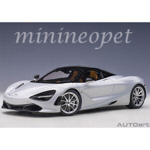 AUTOart 76071 McLAREN 720S 1/18 MODEL CAR GLACIER WHITE / METALLIC WHITE