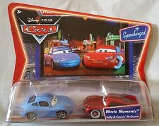 Disney Pixar Cars SALLY & MCQUEEN Movie Moments (Supercharged) 1:55 Diecast