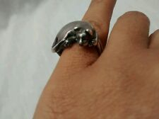 Cute James Yesberger artisan sterling silver 925 sleeping cat ring size 5.5