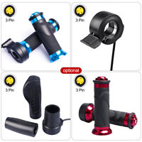 Twist Throttle Pedal Handle Grips Thumb Throttle With Cable Set for Bafang BBS bbshd Motor