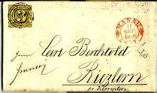 THURN UND TAXIS, MICHEL # 6, NICE FOLDED LETTER DATED YEAR 1856 IN HANAU