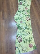 "WAVERLY FLORAL VALANCE BOTANICAL GOLD GREEN  BUTTERFLY LINED 72"" X 16 SCALLOPED"