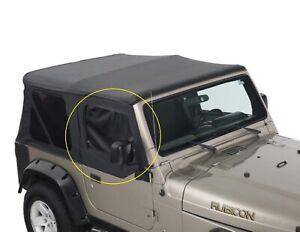 Rampage Window Frames & TINTED Door Skins for 97-06 Jeep Wrangler TJ LJ Black