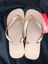 Havaianas Rose Gold Women's Flip Flop Sandal, New