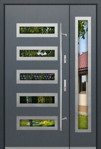Fargo 20DB - modern front door with sidelites / double front doors