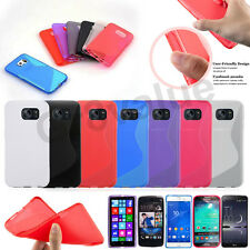 S Line Wave Flexible Gel Silicone Back Case Cover For Various model Phones