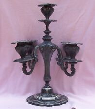 Vintage Antique Victorian Large Tall SilverPlate 5 Cup Candle Holder Candelabra