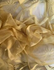 Fresh Sunny Golden Sunflower Smiley French Curtains Tab Top