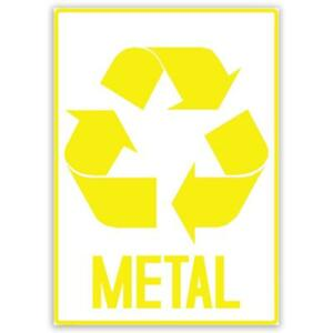 Gift Sticker : Metal Recycle Sign Signage Placard Signalization