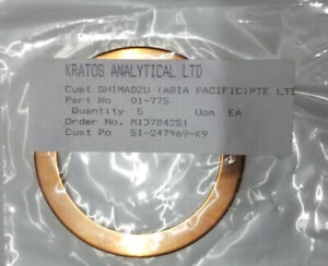 5XCOPPER GASKET 01-775 FOR SHIMADZU X-RAY PHTOELECTRON SPECTROSCOPY EQP AXIS165