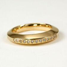 Reinheit SI Echtschmuck-Ringe im Band-Stil aus Gelbgold