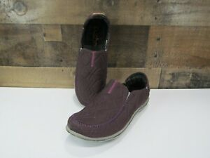 Cushe Surf Slipper Quilted Women's Slip On Comfort Loafers Purple US 9 EU 40 NEW