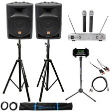 "Rockville Pro Dual 8"" Karaoke Machine/System 4 Youtube/iPad/iPhone/Laptop/Tablet"