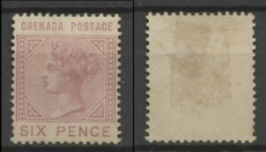 No: 76945 - GRENADA - AN OLD SIX PENCE STAMP - UNUSED (no gum)!!