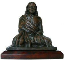 "Jesus Christ Statue in Meditation - 8"" Bronzetone Effect Statue of Jesus"