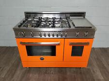 New ListingBertazzoni Professional Pro486Gdfsar 48 Orange Dual-Fuel Range