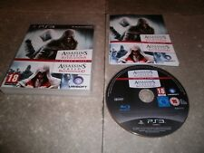 Combo 2 JEUX PS3 PAL Fr: ASSASSIN'S CREED REVELATIONS + BROTHERHOOD- Complet TBE