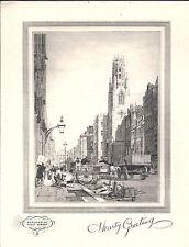 Londres-Memories of Fleet Street-hearty greeting-print/Picture 14 x 18 cm